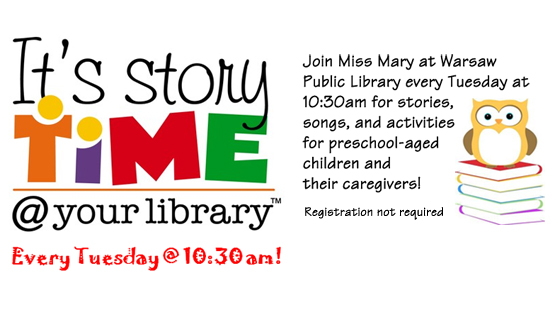 Storytime Every Week With Miss Mary